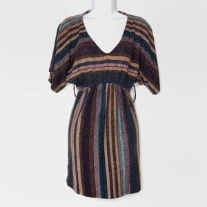 Forever 21 Striped V-neck Dress Size Small